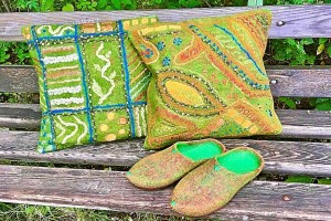 16 ноября - МК Интерьерный войлок. Декоративная подушка от Светланы Тренкиной